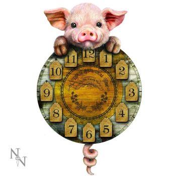 Piggin Tickin Wall Clock with Pendulum