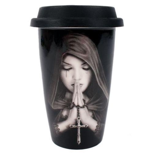 Gothic Prayer Travel Mug