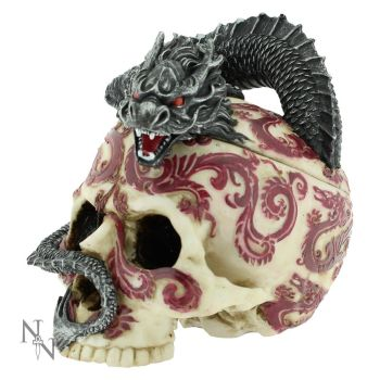 Eastern Dragon Skull Trinket Box