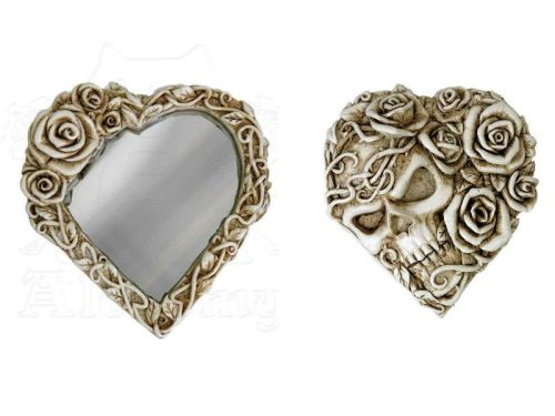 Ghost of Narcissus Skull and Roses Compact Mirror