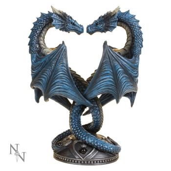 Dragon Heart Twin Candle Holder - Anne Stokes