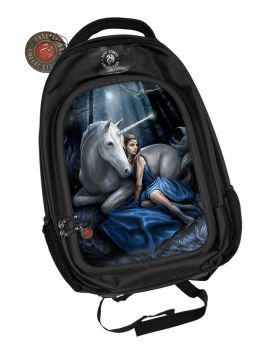 3D Black Oxford Polyester Backpack - Blue Moon - Anne Stokes