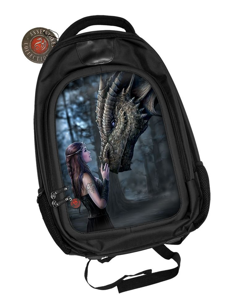 3D Black Oxford Polyester Backpack - Once Upon a Time - Anne Stokes