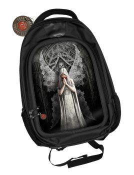 3D Black Oxford Polyester Backpack - Only Love Remains - Anne Stokes
