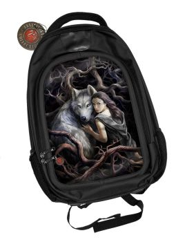 3D Black Oxford Polyester Backpack - Soul Bond - Anne Stokes