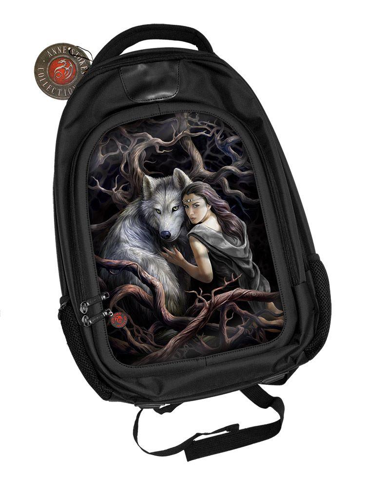 3D Black Oxford Polyester Backpack - Soul Bond - Anne Stokes