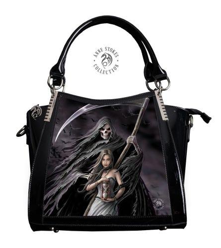 3D Lenticular Black PVC Handbag Summon the Reaper - Anne Stokes