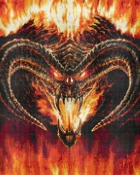 Large Balrog Cross Stitch Kit - Limited Edition
