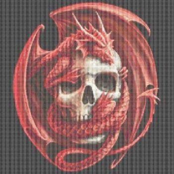 Large Dragon Embrace Cross Stitch Kit - Limited Edition