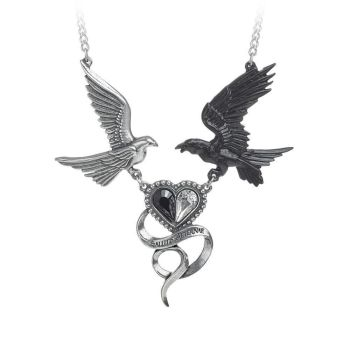 Epiphany of St Corvus - Raven and Dove Necklace