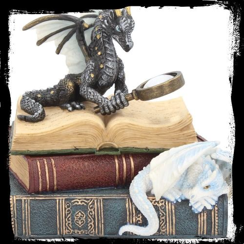 Stunning 'Miniature Scholars Dragon' Trinket Box ~ Nemesis Now