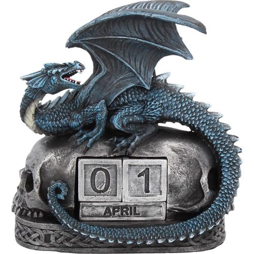 Year Keeper - Dragon and Skull Perpetual Block Calendar Figurine