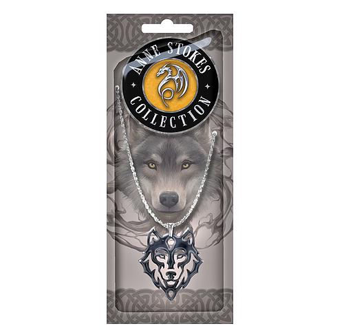 Stunning Wolf Tribal Logo Pendant - Anne Stokes