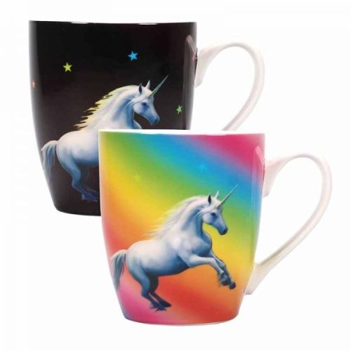 Heat Changing Mug - Moonlight Unicorn - Anne Stokes
