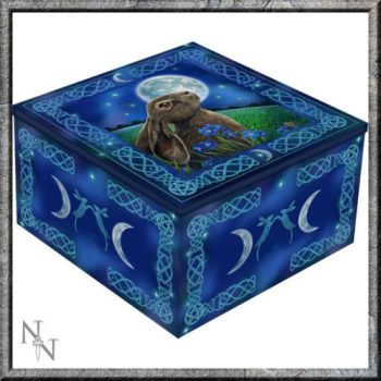 Mirror Trinket Box  - Moon Gazing Hare