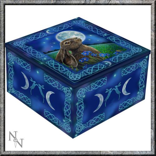 Mirror Trinket Box  - Moon Gazing Hare