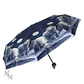 Warriors of Winter Compact/Telescopic Umbrella - Lisa Parker