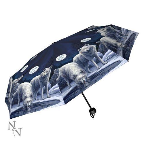 Warriors of Winter Compact/Telescopic Umbrella - Lisa Parker