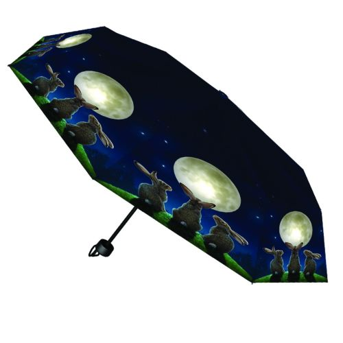 Moon Shadows Compact/Telescopic Umbrella - Lisa Parker