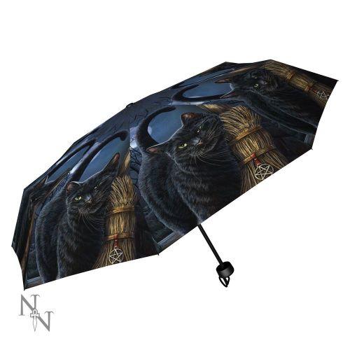 A Brush With Magick Compact/Telescopic Umbrella - Lisa Parker