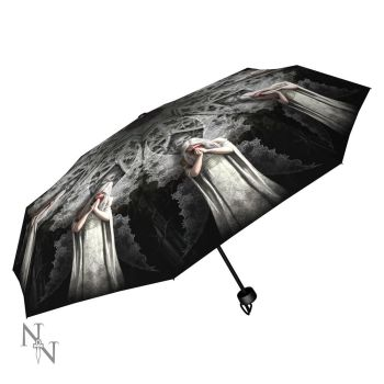 Only Love Remains Compact/Telescopic Umbrella - Anne Stokes