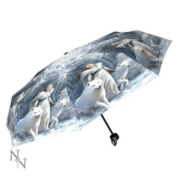 Winter Guardians Compact/Telescopic Umbrella - Anne Stokes