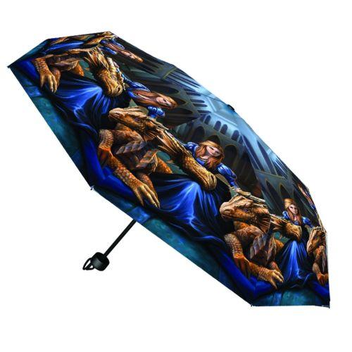 Fierce Loyalty Compact/Telescopic Umbrella - Anne Stokes