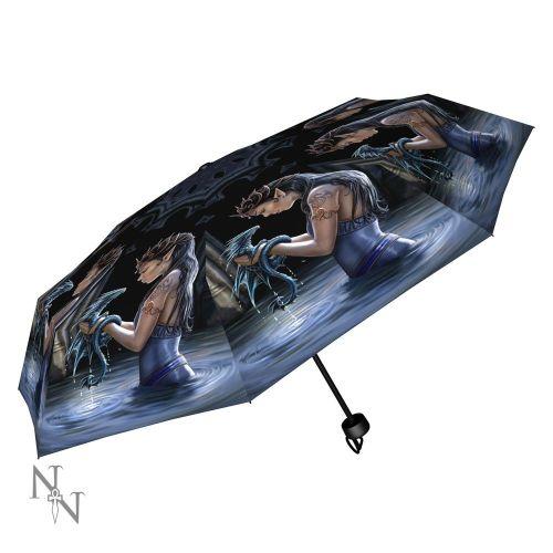 Water Dragon Compact/Telescopic Umbrella - Anne Stokes
