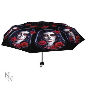 Sugar Skull Compact/Telescopic Umbrella - James Ryman