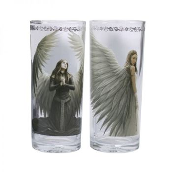 Set of 2 Angel Tumbler Glasses - Spirit Guide and Prayer for the Fallen - Anne Stokes