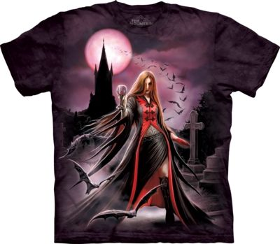 Blood Moon Adult T Shirt - Anne Stokes