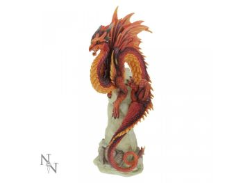 Ruby Sentinel Dragon Figure - Andrew Bill - Nemesis Now