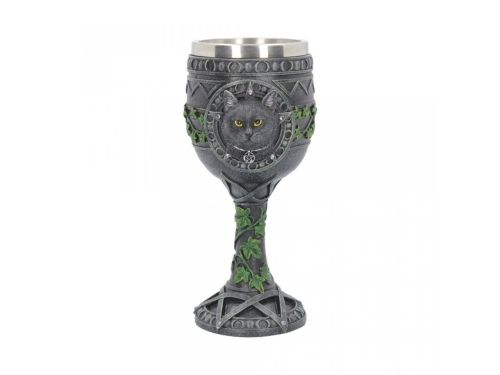 The Charmed One - Cat and Pentagram Goblet/Chalice - Lisa Parker - Nemesis