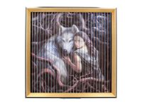 Stunning Anne Stokes Wolves Kinetic Picture - Protector/Soul Bond/Winter Guardians