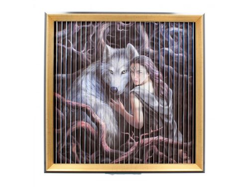 Stunning Anne Stokes Wolves Kinetic Picture - Protector/Soul Bond/Winter Gu