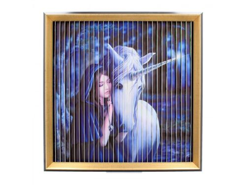 Stunning Anne Stokes Unicorn Kinetic Picture - Pure Heart/Solace/Blue Moon