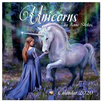 Official Anne Stokes 2020 Unicorns Wall Calendar