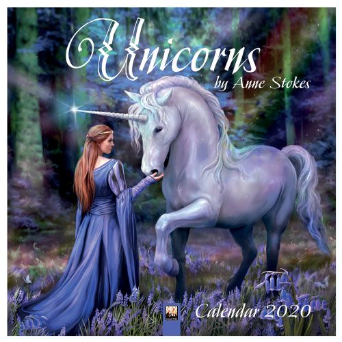 Official Anne Stokes 2020 Unicorns Wall Calendar