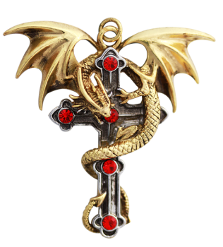 Crux Dragana Pendant Necklace - Carpe Noctum - Anne Stokes