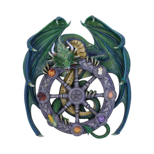 Year of the Magical Dragon - Pagan Wheel of the Year Wall Plaque