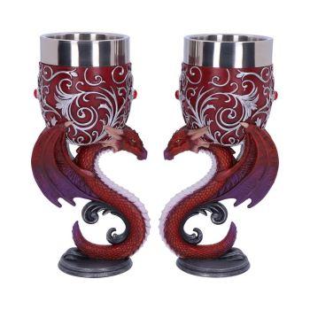 Dragons Devotion - Pair of Dragon Goblets