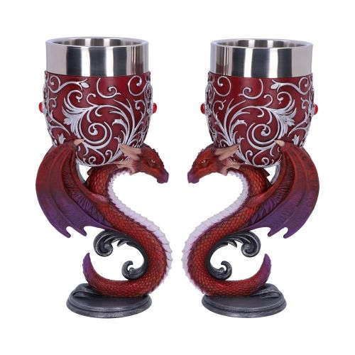 Dragons Devotion - Pair of Dragon Goblets