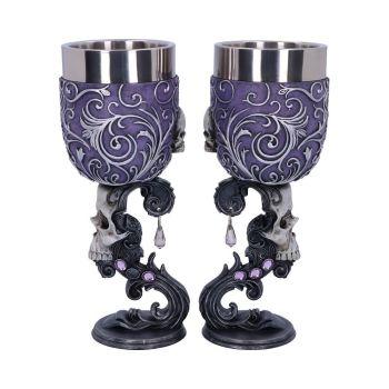 Deaths Desire - Pair of Skull Goblets