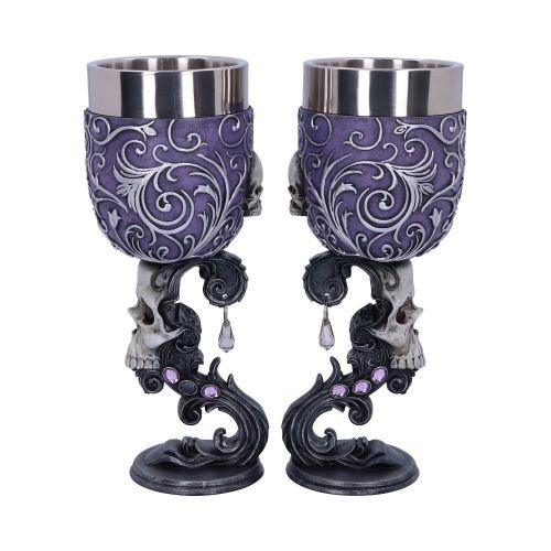 Deaths Desire - Pair of Skull Goblets