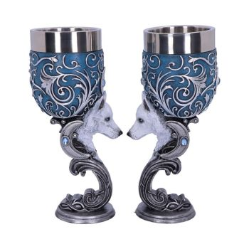 Wild at Heart - Pair of Wolf Goblets