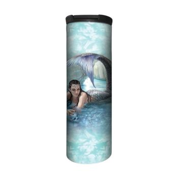 Anne Stokes Barista Style Stainless Steel Thermos Flask - Hidden Depths - Mermaid