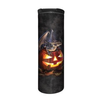 Anne Stokes Barista Style Stainless Steel Thermos Flask - Trick or Treat - Dragon