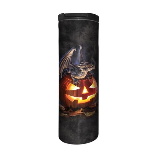Anne Stokes Barista Style Stainless Steel Thermos Flask - Trick or Treat -