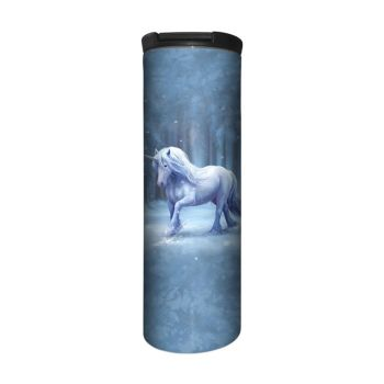 Anne Stokes Barista Style Stainless Steel Thermos Flask - Winter Wonderland - Unicorn