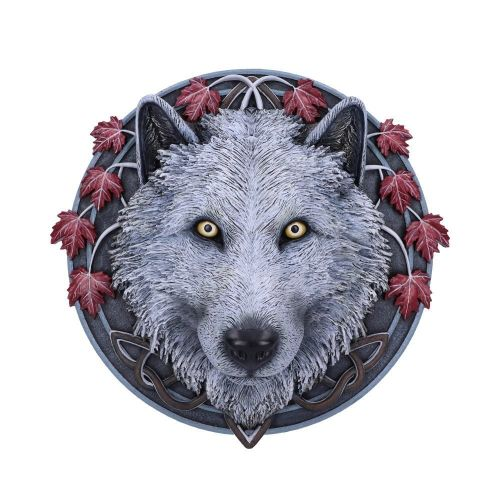 Guardian of the Fall Wolf Wall Plaque - Lisa Parker